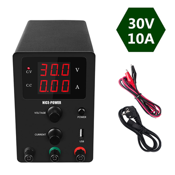 DC laboratory Power Supply Adjustable Voltage Regulated Switching Power Supplies 30V 10A Digital Bench Power Source
