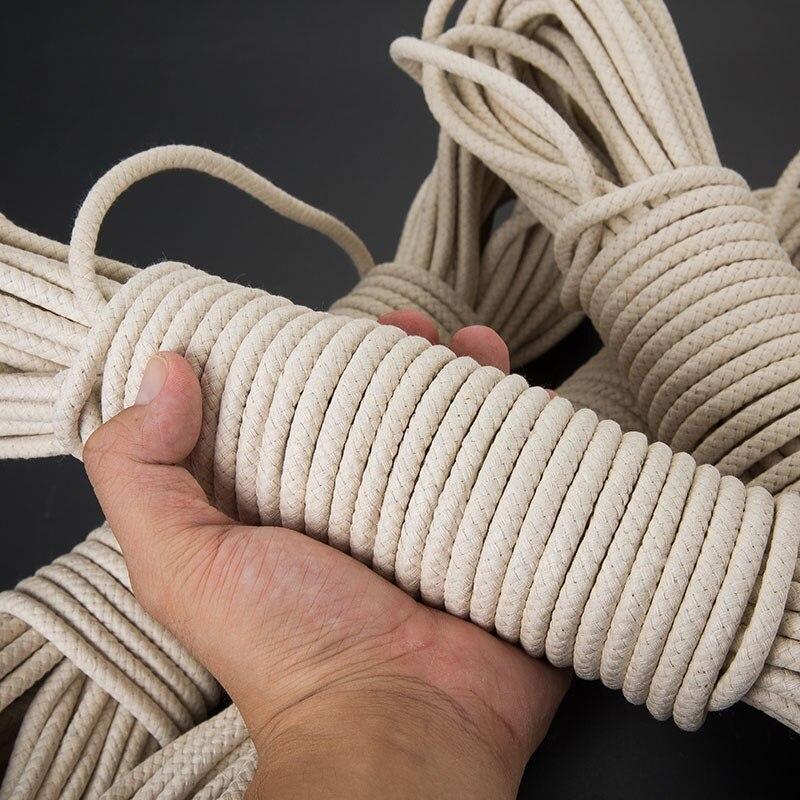 Quente trançado encerado algodão corda grossa 4/5/6/8mm forte estiramento flagpole polia linha roupas corda bondage frete grátis 25m