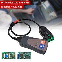 Pełny Chip Lexia 3 PP2000 921815C Diagbox V7.83 Lexia3 OBD OBD2 skaner narzędzie diagnostyczne do samochodów dla PSA dla Citroen/peugeo-t