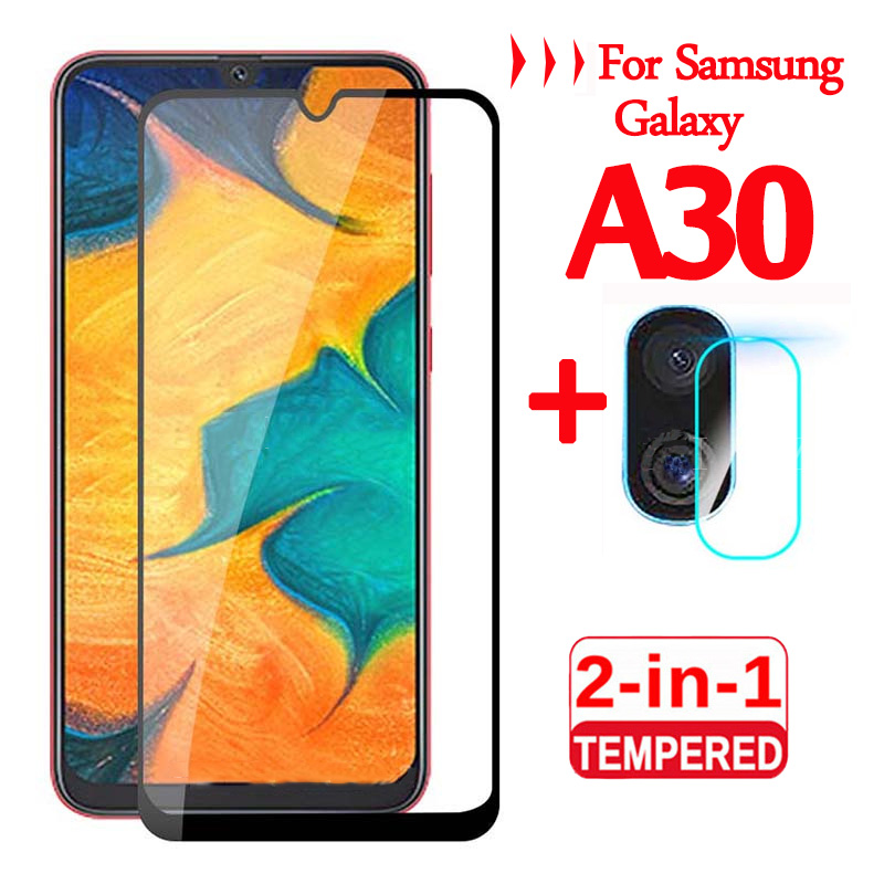 2-in-1 Camera Lens Glass For Samsung Galaxy A30 Protective Glass Screen Protector For Samsung A 30 30A A305 Tempered Glas Film