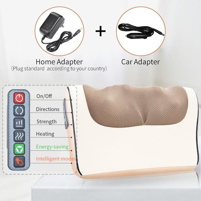 Infrared Heating Neck Shoulder Back Body Electric Massage Pillow Shiatsu Massager Device Cervical Healthy Massageador Relaxation 4