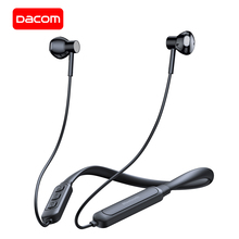 Спортивные Bluetooth наушники DACOM G03H, беспроводные наушники 5,0 с защитой от пота и шейным ремешком, гарнитура для воспроизведения 10 часов для iPhone, Samsung, Xiaomi