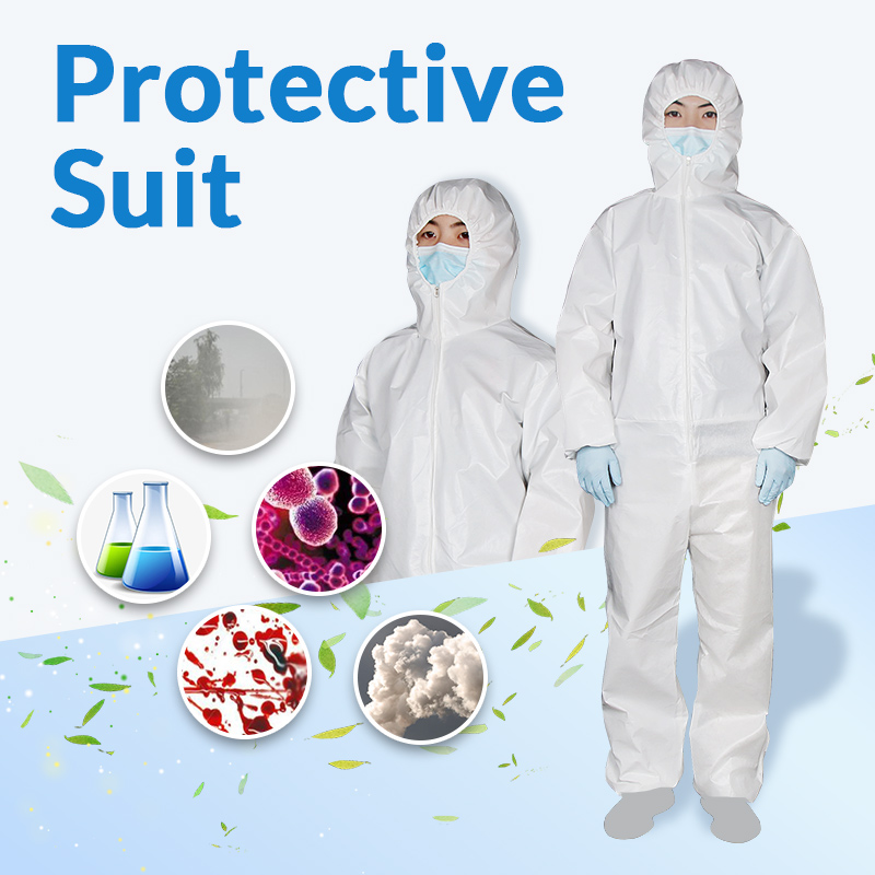 Professional Hooded Protective Clothing Antibacterial Chemical Protective Dust-proof Clothing Protection