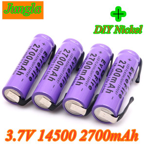 New 14500 Lithium Battery Lithium Rechargeable Bateria Welding Nickel Sheet batteries 3.7V 2700mAh For Torch LED Flashlight Toy