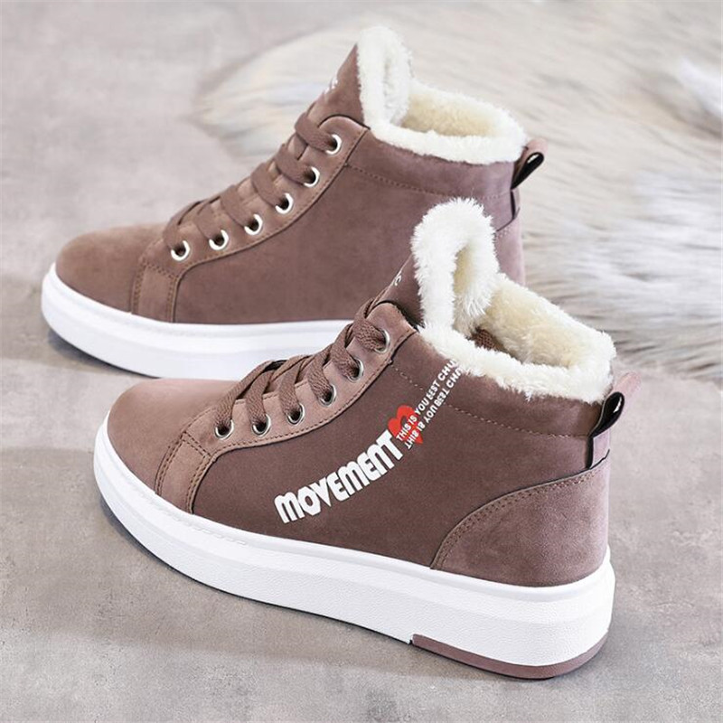 Cotton Shoes Female New Women's Boots 2019 Winter New Wild Warm Student Casual Shoes INS Thick High-Top Snow Boots 29