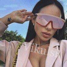 Feminine Sun Glasses Luxury Vintage Designer One Piece Squar