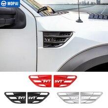 MOPAI Aufkleber für Auto Körper Air Flow Vent Fender Abdeckung Dekoration Abdeckung Zubehör für Ford F150 Raptor 2009 2014 SVT Brief