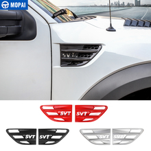 MOPAI Sticker for Car Body Air Flow Vent Cover Fender Decoration Cover Accessories for Ford F150 Raptor 2009 2014 SVT Letter