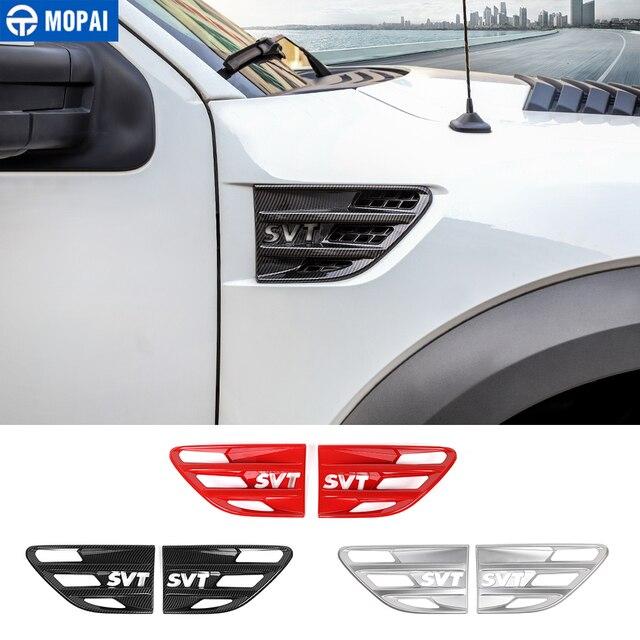 MOPAI מדבקה לרכב גוף זרימת אוויר Vent כיסוי פגוש קישוט כיסוי אביזרי עבור פורד F150 Raptor 2009 2014 SVT מכתב