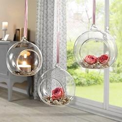 12 sztuk 80MM wiszący świecznik na podgrzewacze szklane kule Terrarium świecznik na ślub świecznik (12 sztuk/zestaw) w Rękawice do użytku domowego od Dom i ogród na