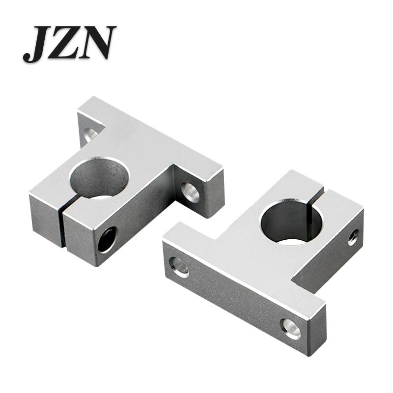Linear Optical Axis SK Vertical Support Aluminum Alloy Bearing Frame Polished Rod Holder SK/8mm——SK/60mm