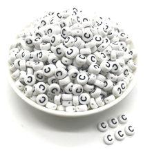 100 pçs 4x7mm letras redondas 26 contas de letras pêssego em forma de coração espaçador contas fazendo jóias colar pulseira # c