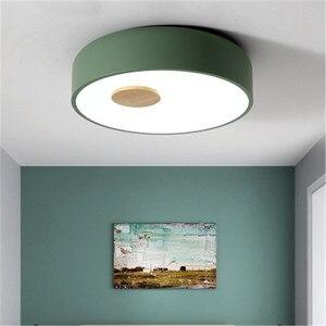 Image 3 - Plafonnier en bois et acrylique au Style nordique, LED, luminaire créatif dintérieur, luminaire de plafond, idéal pour une chambre à coucher ou une cuisine