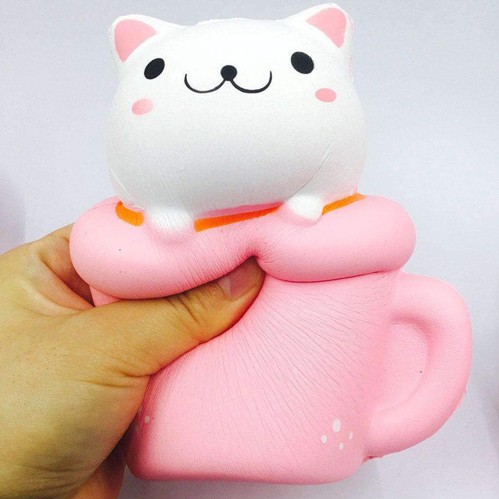 Мягкая медленный отскок Кошка чашка кофейная чашка игрушка медленный отскок кошачья чашка кофейная чашка моделирующая модель игрушки для