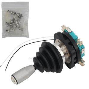 Image 2 - 30mm przełącznik joysticka z Push przycisk przełącznik chwilowy 4 pozycja zatrzaskowy przełącznik kołyskowy Monolever przełącznik krzyżowy HKF4 11A 4