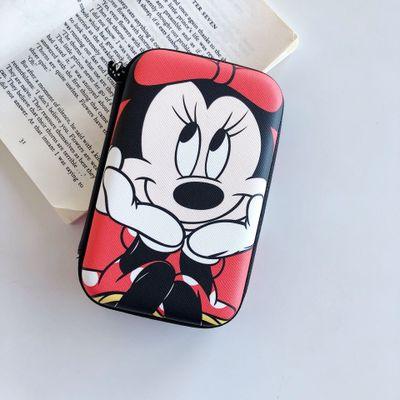 Disney Mickey  Cartoon Coin Purse Minnie Boy Girl Coin Bag Handbag Headset Storage Bag Charger Data Cable Storage Box Clutch