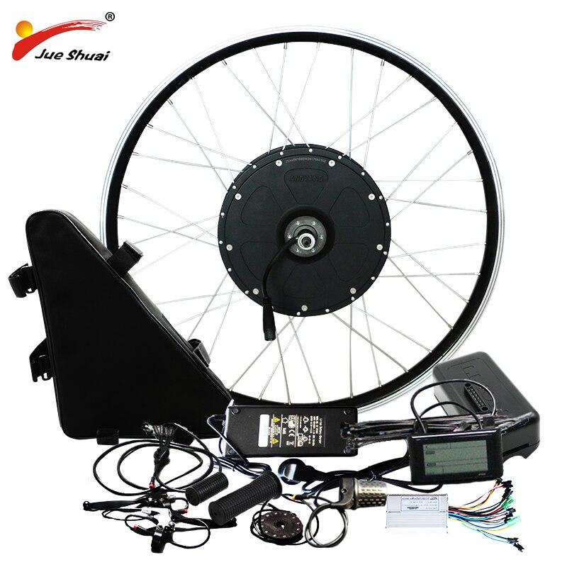 Elektrische Bike Kit 1500w Motor Rad 48V E Bike Kit 1500W Rad Motor Elektrische Fahrrad Conversion Kit für 26