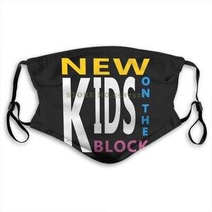 Черные хлопковые новые Nkotb Новые на блоке для мальчиков с логотипом Черные моющиеся маски для лица Diy