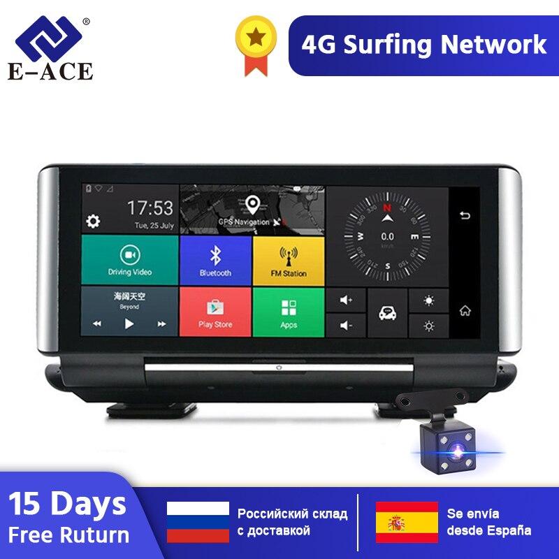 """E-ACE E01 voiture DVR GPS 4G Navigation Tracker 7 """"Android 5.1 voiture caméra WIFI 1080P ADAS enregistreur vidéo pour les navigateurs de tourisme automobile"""