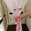 Серебряная проволочная занавеска  украшение для дома  украшение для коридора  свадебная Роза  романтичная перегородка  занавеска