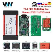 Multidiag פרו + V3.0 NEC ממסרים 2017.3 2016.00 עם סדק לרכב/משאית Bluetooth סורק OBD OBD2 רכב אבחון אוטומטי כלי VCI
