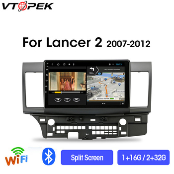 Vtopek 4G+WiFi 2din Android Car Radio Multimedia Player For Mitsubishi Lancer 2007-2012 Navigation GPS Head Unit 2 din no CANBUS vtopek 2din 2 32g 4g net wifi car multimedia player for mitsubishi lancer 2007 2012 navigation gps auto android radio 2 din dvd