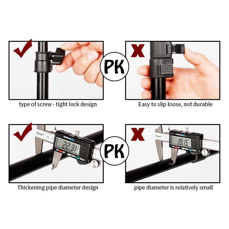 Achtergrond Ondersteuning Stand Systeem T-Vormige Achtergrond Frame Fotografie Groen Scherm Achtergrond Metalen Achtergronden Voor Fotostudio