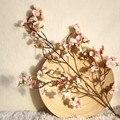 Искусственное цветение вишни из цветков персикового дерева искусственный цветок из шелка дома Свадебная вечеринка цветочный букет Декор п...