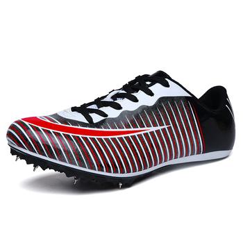 Buty lekkoatletyczne mężczyźni kobiety Outdoor Men buty do biegania kolce buty sportowe lekkie damskie paznokcie Sneaker buty treningowe tanie i dobre opinie DawnDark Spring2019 Masaż Bezpłatne elastyczne Lace-up Pasuje prawda na wymiar weź swój normalny rozmiar Syntetyczny