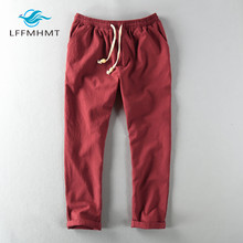 Trousers Ankle-Length-Pants Linen Thin Summer Fashion-Brand Spring Japan-Style Male Men