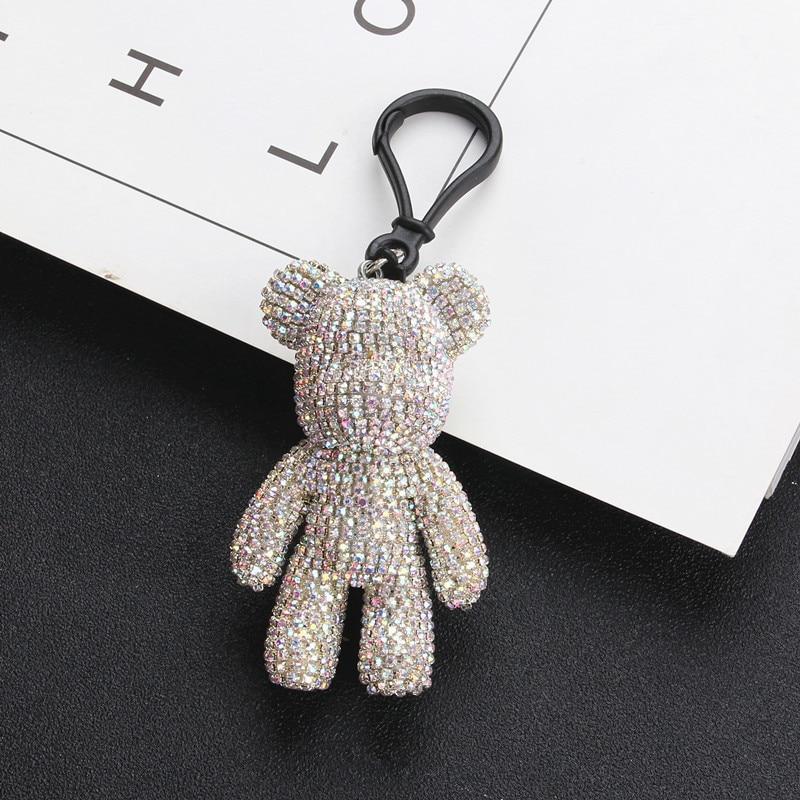 2019 Fashion Cartoon Bomgom Crystals Luxury Popobe Gloomy Bear Keychain Women Car Key Ring Children's Christmas Gift Key Chain