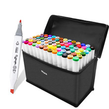 30/40/60/80/168Colors Alcohol markers Set Manga Drawing Markers Pen Alcohol Based Sketch Felt-Tip Twin Brush Pen Art Supplies