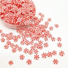 20 г/лот, красно-белый леденец, полимерная глина, разбрызгивает, красочная, для поделок своими руками, крошечные, милые, Бонбон, конфеты, пластиковые, klei, частицы грязи