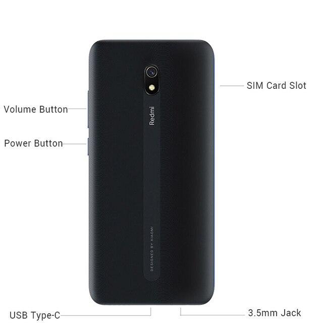 "Original Xiaomi Redmi 8A 8 A 4GB RAM 64GB ROM Mobile Phone Snapdragon 439 Octa Core 6.22"" 5000mAh 12MP Camera Smartphone"