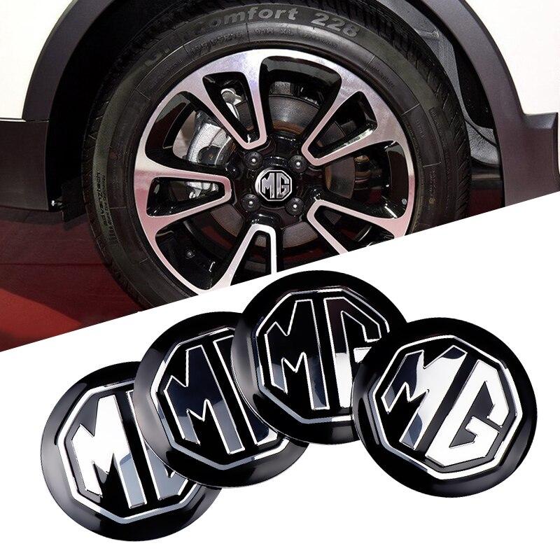 4pcs Car Styling 56mm Car Wheel Center Hub Cap Cover Sticker Rim Emblem For MG ZS GS 5 Gundam 350 Parts TF GT 6 Accessories