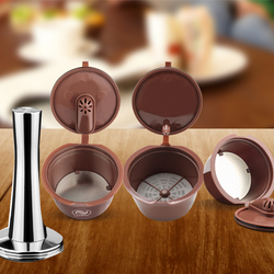 Crema Coffee Capsule Filter Upgrade 3rd Generation Two-type Dolce Gusto Refillable Reusable Coffee Cup Baskets 41mm Tamper