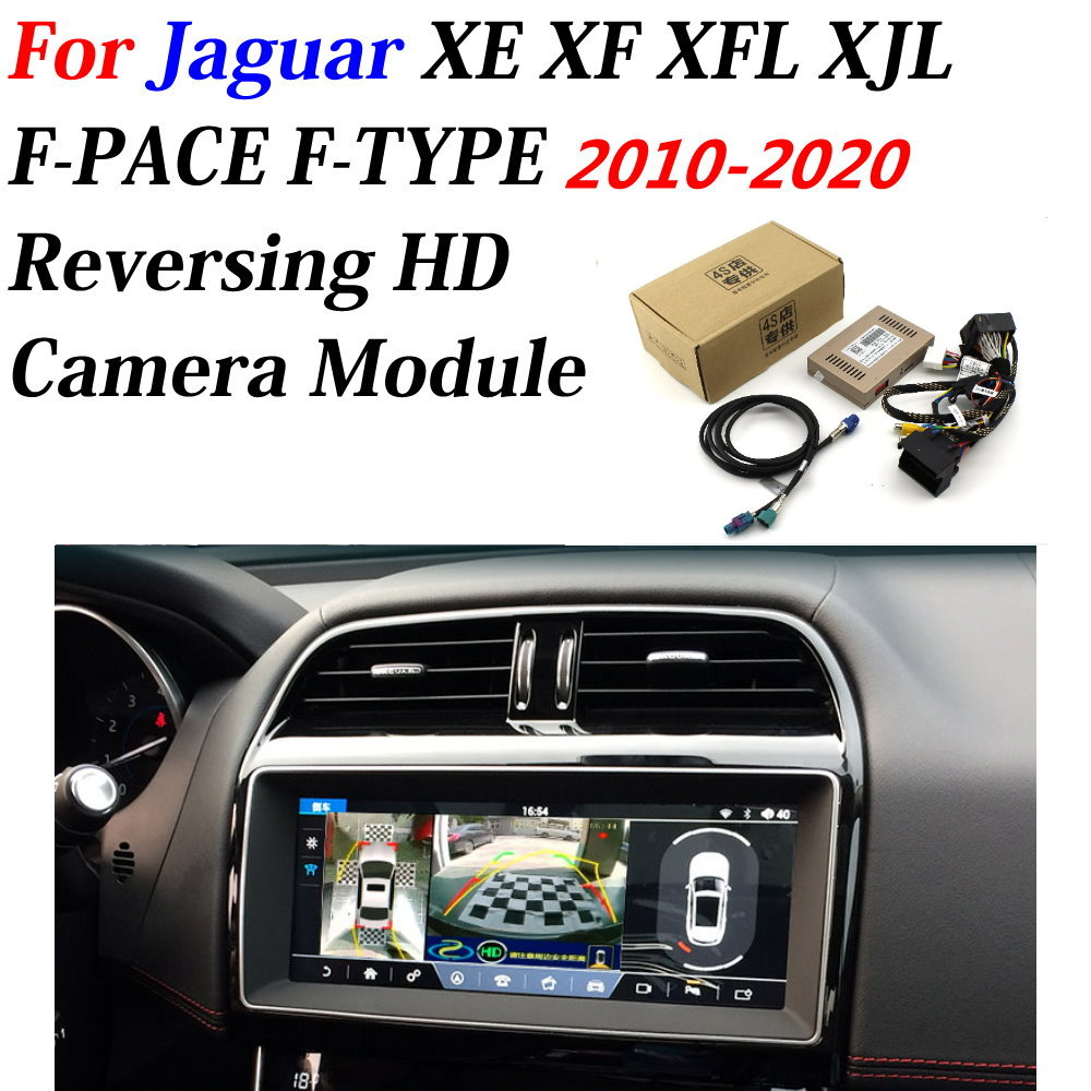 Car Front Bakcup Rear Camera For Jaguar XE XF XFL XJL F-PACE F-TYPE 2010-2020 Interface Reverse Backup Camera Decoder