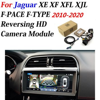 hexinyan custom car floor mats for jaguar all models xel xf xe f pace xjl f type xk xfl car accessories auto styling Car Front Bakcup Rear camera For Jaguar XE XF XFL XJL F-PACE F-TYPE 2010-2020 Interface HD Reverse Camera Decoder Accessories