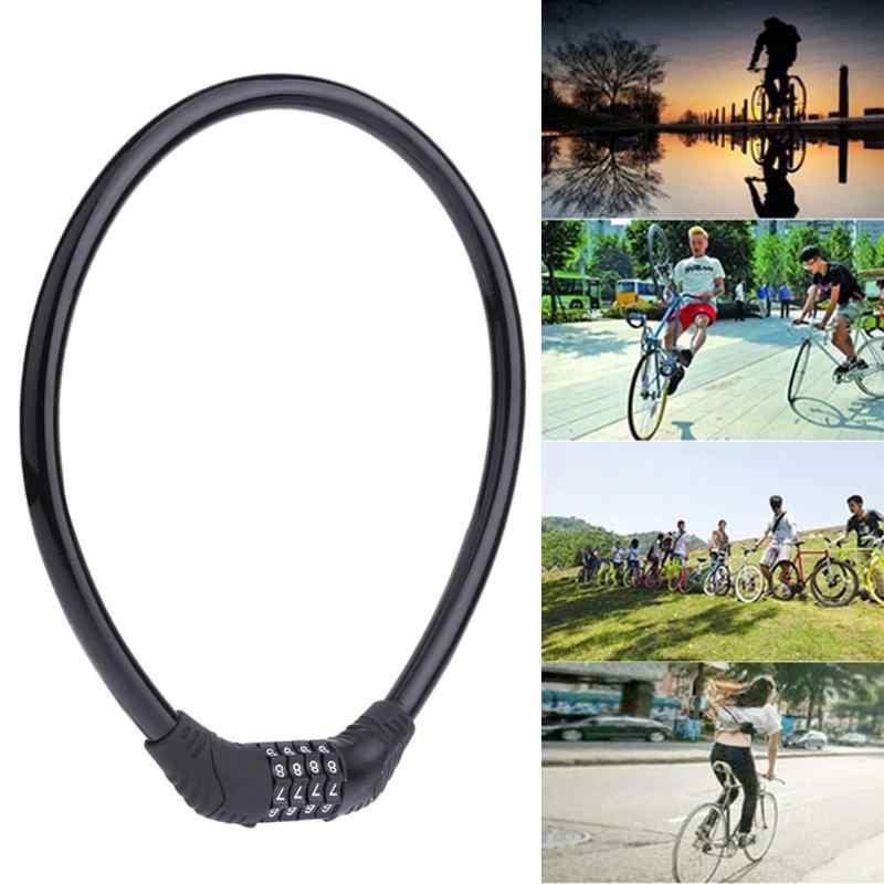 Anti-Theft Kabel Sepeda Lock 4 Digital Kode Sandi Sepeda Keselamatan Bersepeda Keamanan Kunci Sepeda Aksesoris Ciclismo Bicicleta