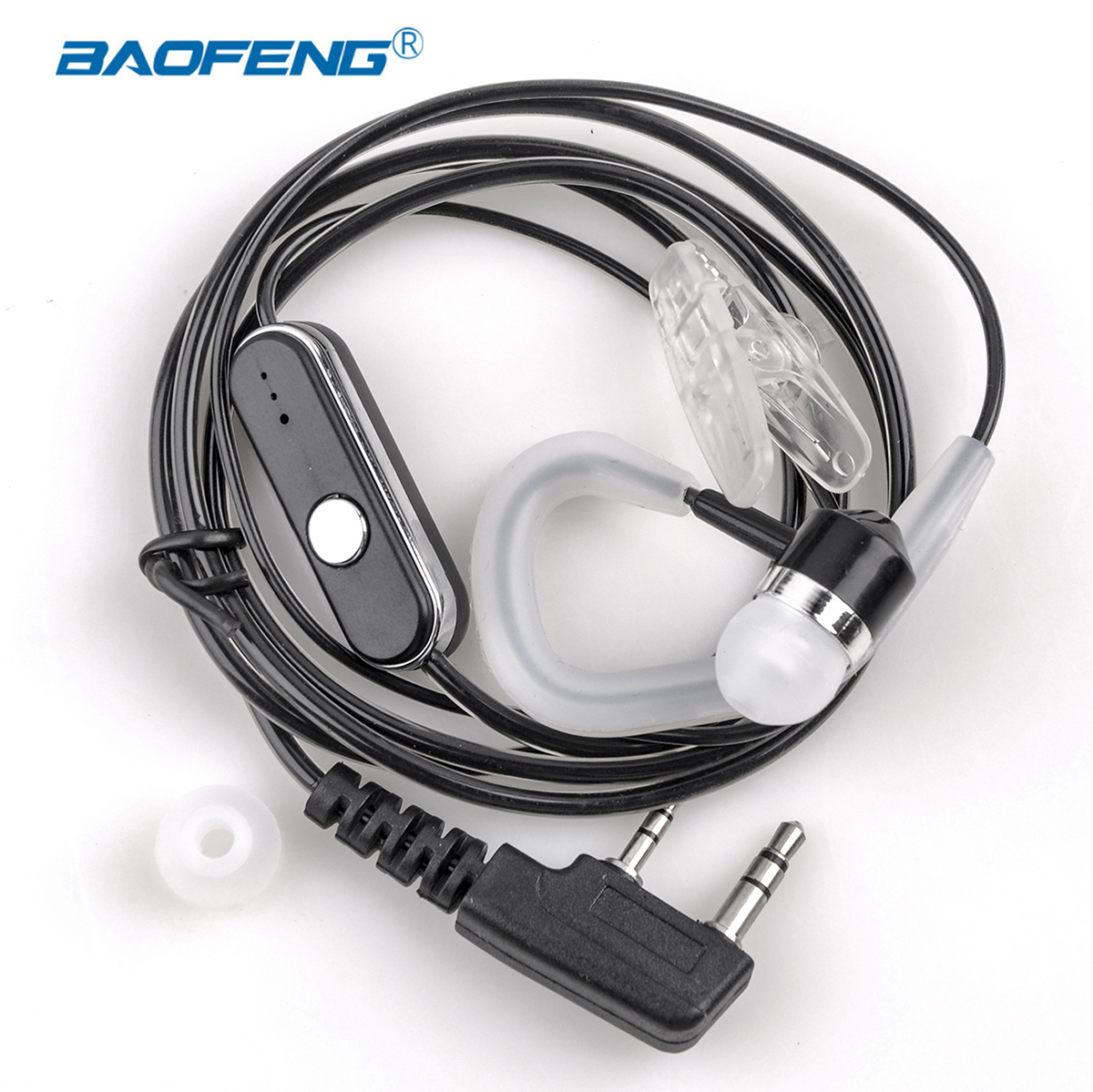 Walkie Talkie In Ear Hook Baofeng Radio Earphone With Ptt Earpiece K Port Uv 5r Unilateral Headphones For Protable Radio Headset