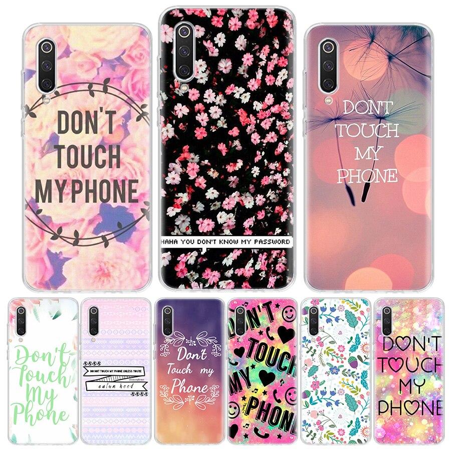 No toque MI teléfono flor Rosa funda de teléfono para Xiaomi Redmi MI Note10 9 9S 8T 8A 8 7A 7 6A Pro 6X 5X CC9E A3 A1 A2 Lite 5 5A K