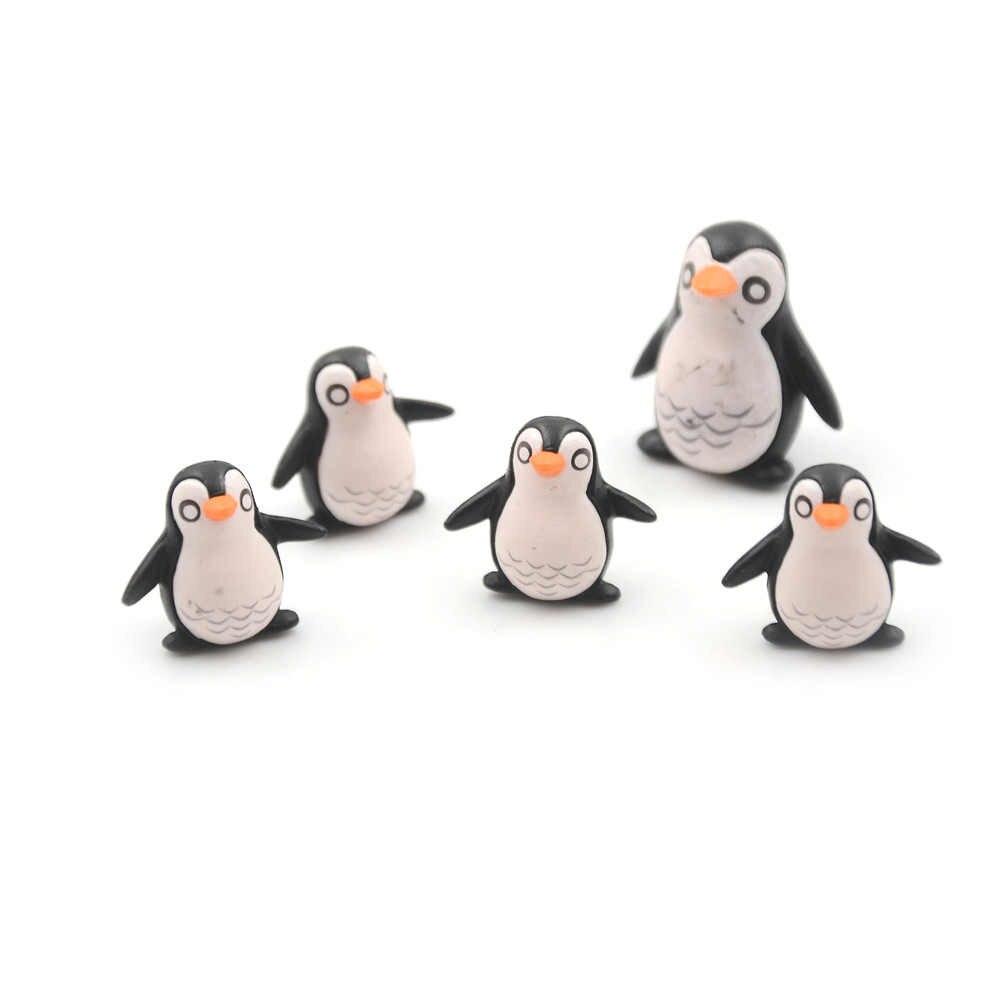 5 шт./лот рождественские фигурки DIY ремесла мини зимний Пингвин миниатюрная