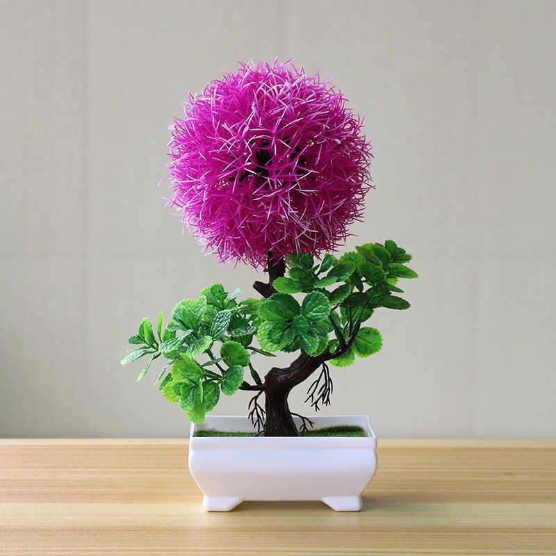 Искусственные Поддельные горшечные Топиарий в форме шара завод Бонсай открытый офис украшения сада многоцветный