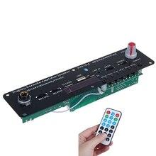 20W Bluetooth 5.0 güç amplifikatörü ses şifre çözücü mikrofon Karaoke 3.7 V/5 V bağımsız yankı desteği FM AUX
