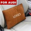 Замшевая ткань  автомобильное сиденье  подушка для спины и талии  поясничная поддержка  подушка для отдыха для Audi logo Sline Q3 Q7 TT A8 A6 c5 c6 S3 A4 A3 Q5 r8