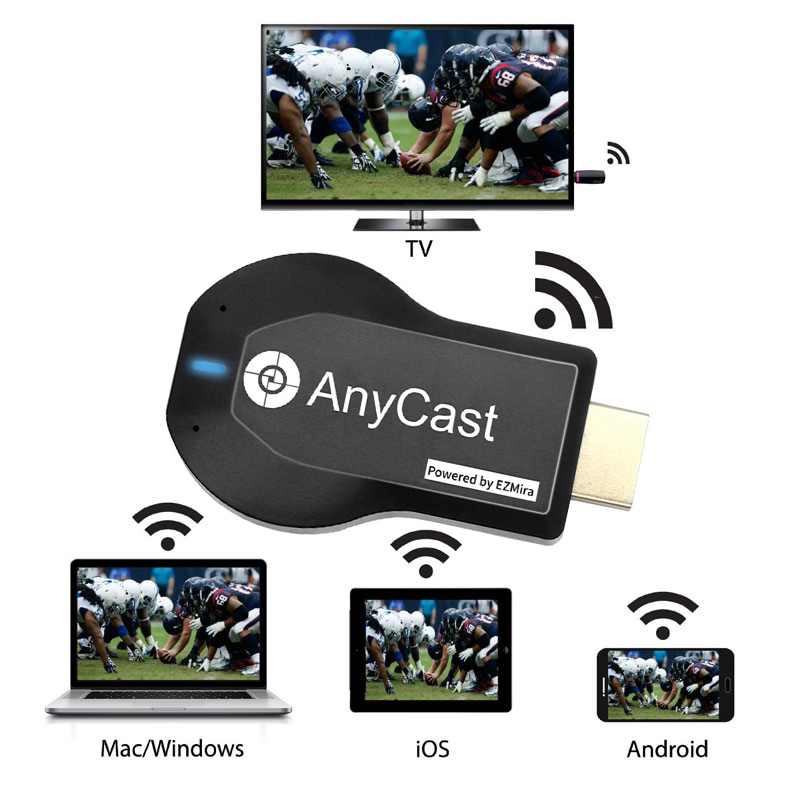 Penerima WiFi M2 Plus TV stick Anycast DLNA Miracast Airplay mirror - Audio dan video rumah - Foto 3