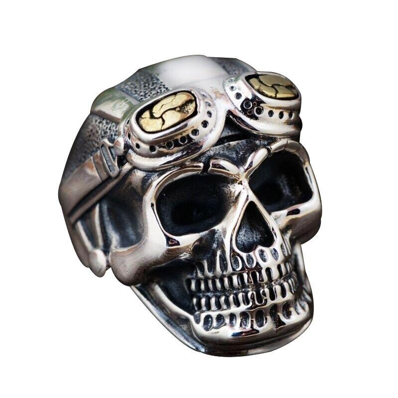 Vintage Skull Rings Men/'s Punk Style Ghost Head Skull Ring Squelette Bijoux Hot