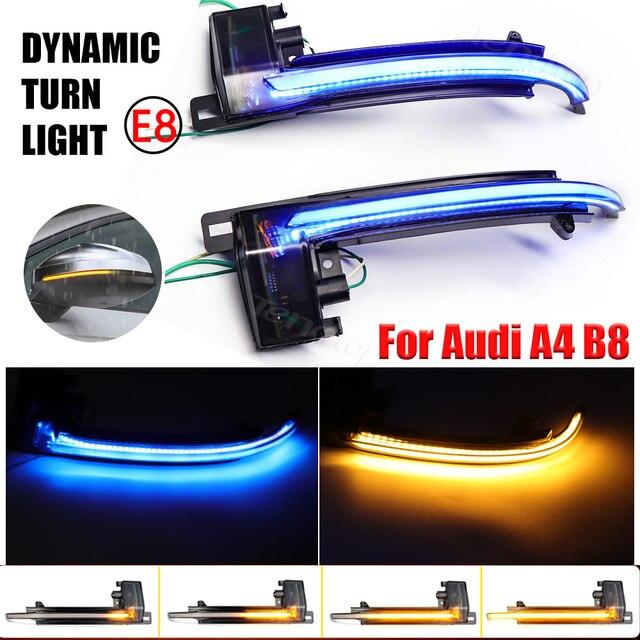 עבור אאודי A3 8P A4 A5 B8 Q3 A6 C6 4F S6 SQ3 A8 D3 8K דינמי מחוון LED זורם מהבהב איתות מראה נצנץ אורות