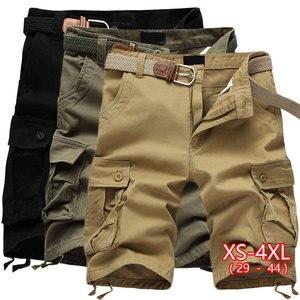 2020 Summer Men's Casual Shorts Multi Pocket Military Cargo Shorts Male Khaki Mens Tactical Shorts 29-44 No Belt High Waist