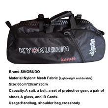 Profissional kyokushin saco para treinamento esporte saco karate leve bolsa multifuncional mochilas à prova dwaterproof água